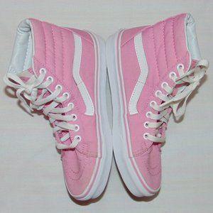 Vans Pink HI Top SK8T Sneakers Women's size 7.5